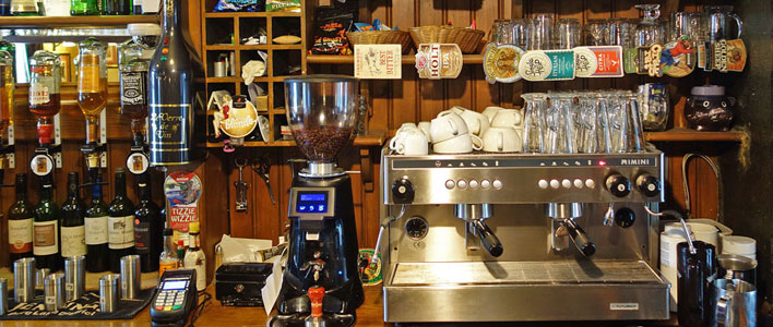 Our espresso coffee machine sees plenty of use during the day